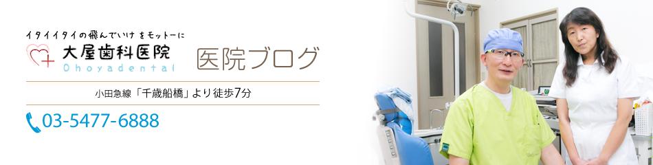 医院ブログ | 千歳船橋・経堂の歯医者・歯科・入れ歯なら大屋歯科医院